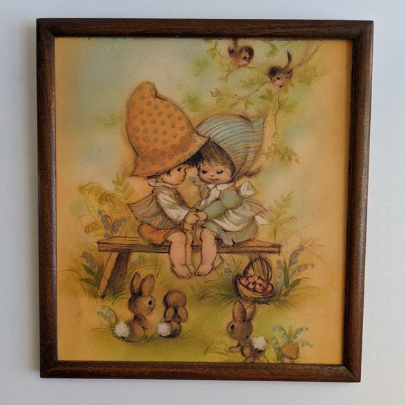 Vintage Hummel Children Cottagecore Wall Art